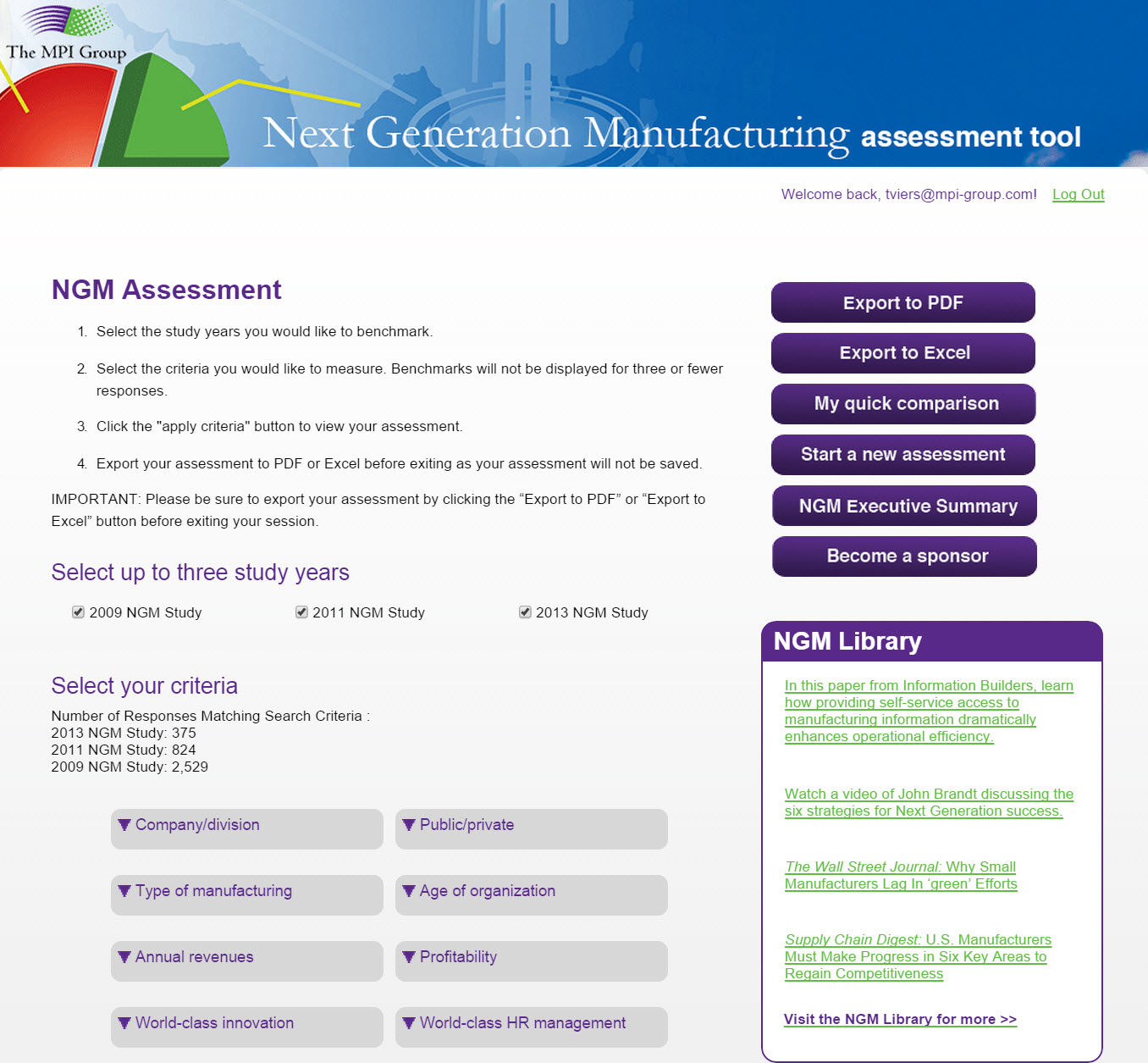 NGM Assessment Tool - The MPI Group